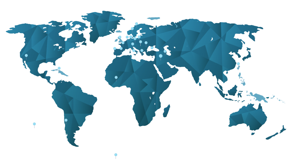 World map of the ILIAS Solutions clients